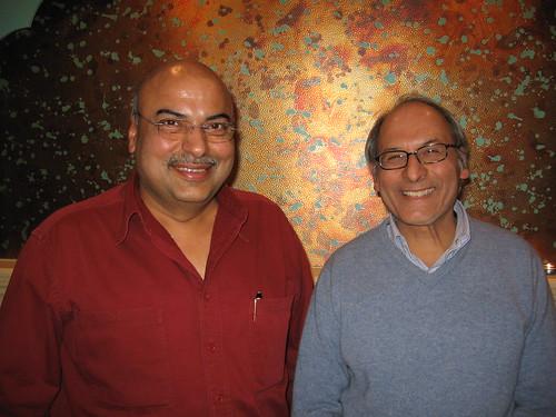 Pawan Mahendro of the Jaipur Grille toronto and Vipin Bery