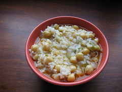 foto de arroz con garbanzos