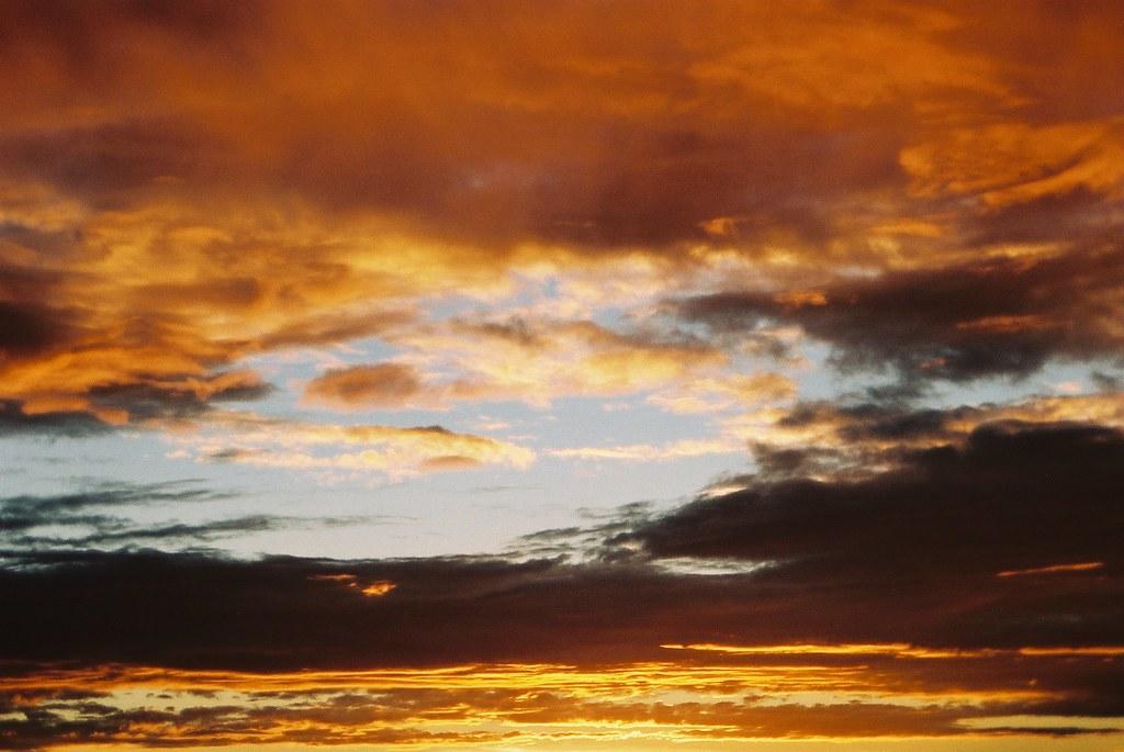 Pôr-do-sol em Brasília.