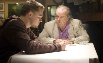 Leonardo DiCaprio and Jack Nicholson in The Departed.