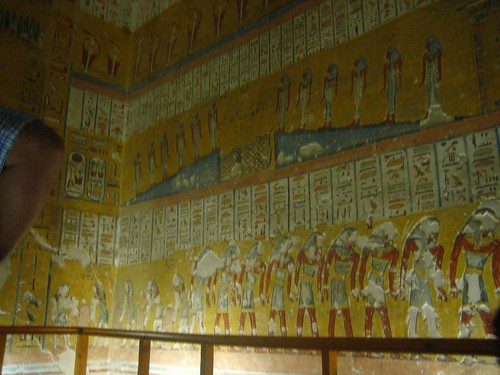 Inside the tomb of Ramses IV