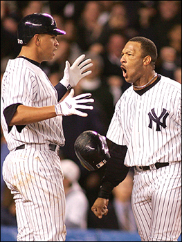 Sheff puts on game face, scares A-Rod.