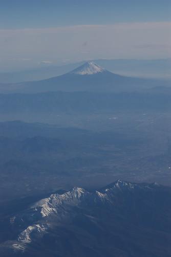 Mt. Fuji and Mt. Yatsugatake