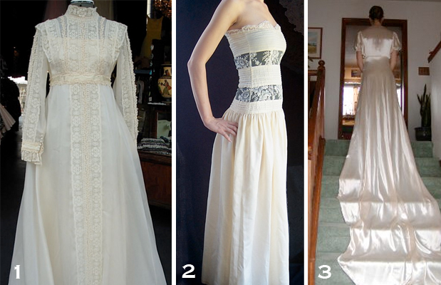 I found some lovely vintage wedding dresses on eBay and I hope you 39ll give