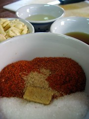 Ingredients for jaew bong chili paste