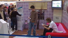 Nintendo Wii demonstration at Churchill Square, Brighton. 1