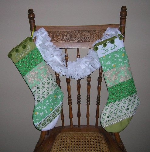 """Stockings and a garland"""