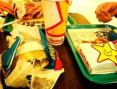 Lunch at Carls' Jr