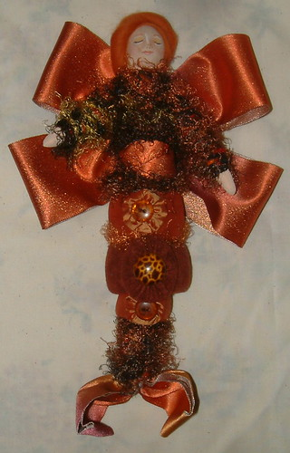 Ornament doll - copper