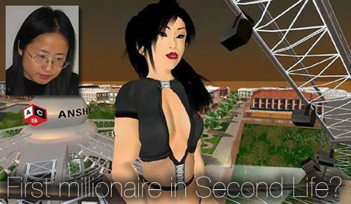 Anshe Chung makes US$1 million in Second Life