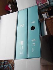 La caja viene dividida en 2 módulos