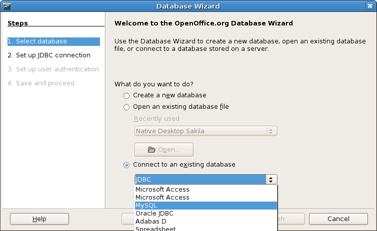 Oo-Database Wizard-connect-to-existing-MySQL