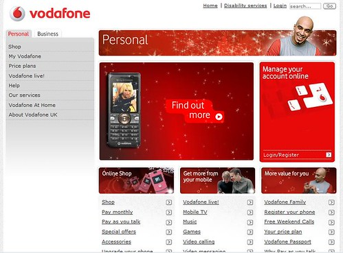 New Vodafone Website design