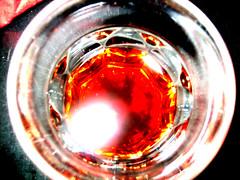 A glass of Braulio
