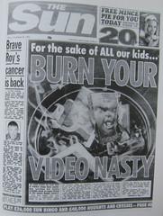 Sun video nasty campaign