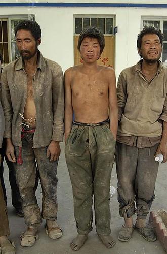 obreros chinos esclavos