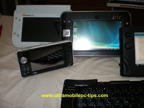 Amtek T700, Vega, Amtek T770, Samsung Q1 and Stowaway BT Keyboard.
