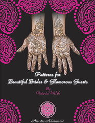 Cover of Henna Design Book :  Patterns for Beautiful Brides & Glamorous Guests by Victoria Welch photo by Henna by Heather - serving Boston and Providence