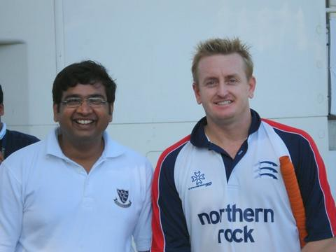 That is me with Scott Styris
