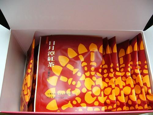 日月潭紅茶立體茶包盒內