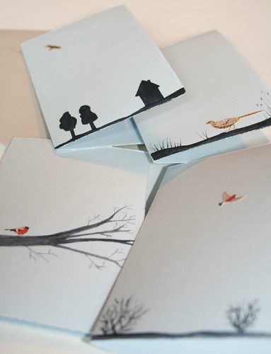bird cards + envelopes