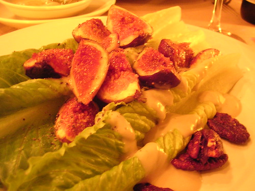 Romaine Salad with Figs Candied Pecans and Cashel Blue Cheese Vinaigrette