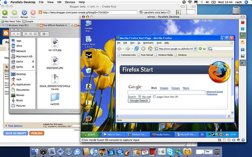 Windows XP on Parallels