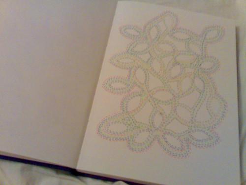 doodle in book