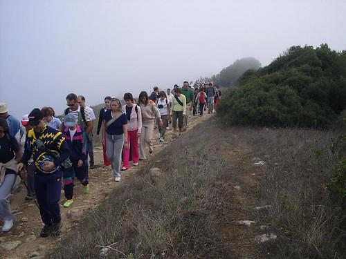 Passeio pedestre à Serra do Louro, Palmela, organizado pela associação 'Lebres do Sado'