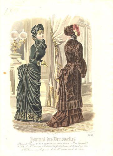 Journal des Demoiselles, Elegant Velvet Dresses,1881