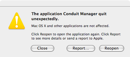 Conduit Manager crash