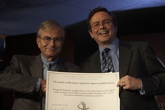 Jim fruchterman and Sandy Berger showing Benetech's commitment to launch international Bookshare.org
