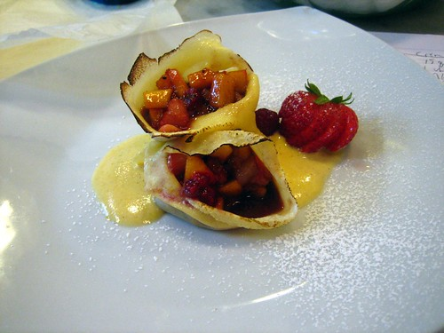 Crepes w- Fruit & Creme Anglais