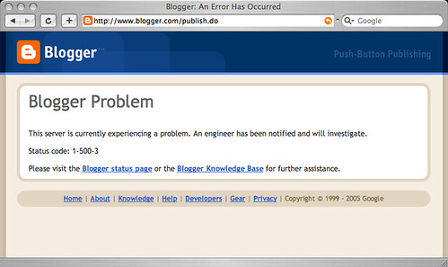 Blogger 錯誤畫面 2
