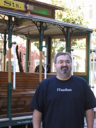 Me in San Francisco by a cable car 2
