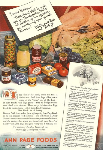 Ann Page Thanksgiving 1939