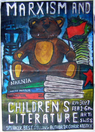 Marxism and Children's literature poster with Dr. Conor Kostick