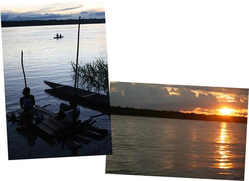 atardece sobre el Amazonas