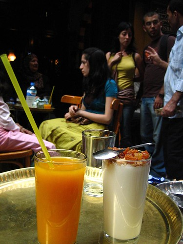 Mango Juice and Sahleb at El Fishawy