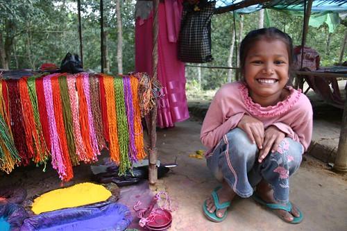 Young salesgirl at Dakshinkali, Kathmandu Valley