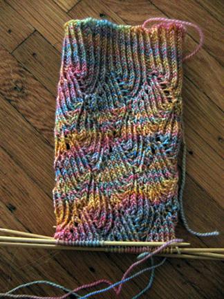 Ripple Weave sock progress