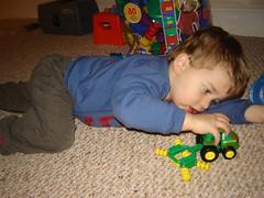 I push it. tractor.