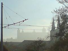 festung marienberg im nebel