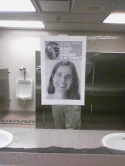 Mary in the men's room
