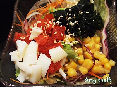 鰻魚飯附的沙拉,很讚