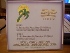 Caixa dos DVDs do Video Clube Oásis - frente