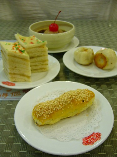 上海生煎包、蓮蓉皮蛋酥、千層油糕、桂圓甜芋泥