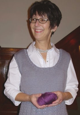 Kathryn in her Silky Wool Vest