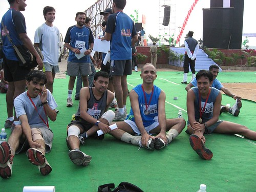 After finishing the Hyd Half Marathon