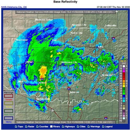 OKC Weather Radar 30 Nov 06